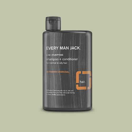 Every Man Jack Activated Charcoal Purifying 2 in 1 Shampoo + Conditioner -13.5oz