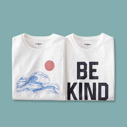 Men's Regular Fit Short Sleeve Crewneck Graphic T-Shirt - Goodfellow & Co™ Beige/Landscape M, Men's Standard Fit Short Sleeve Crew Neck T-Shirt - Goodfellow & Co™ Dog Bone M