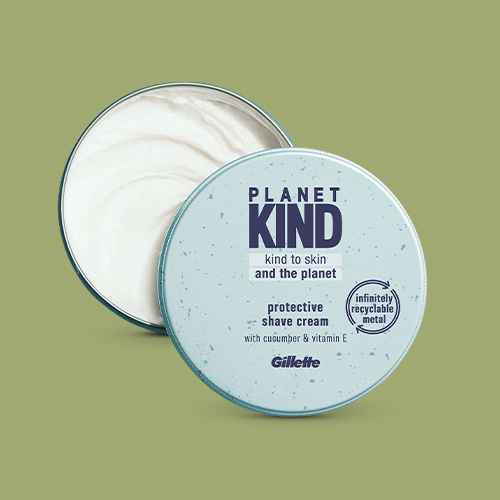Planet KIND by Gillette Protective Shave Cream with Cucumber & Vitamin E - 5 fl oz