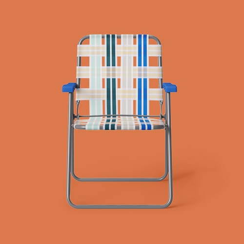 4pk Webstrap Patio Folding Chairs - Blue - Room Essentials™
