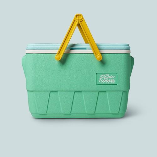 Igloo Picnic Basket Retro 25qt Cooler - Mint