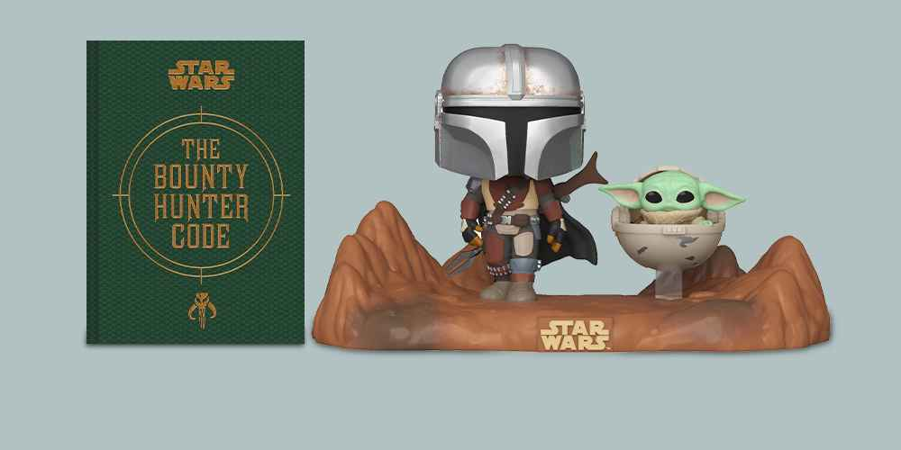Star Wars(r) the Bounty Hunter Code - (Star Wars (Chronicle)) by  Daniel Wallace & Ryder Windham & Jason Fry (Hardcover), Funko POP! Moment: Star Wars The Mandalorian - The Mandalorian with The Child