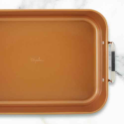 """Ayesha Curry 11""""x15"""" Copper Nonstick Roasting Pan"""