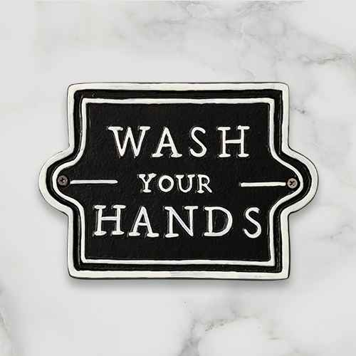 'Wash Your Hands' Wall Sign Black/White - Hearth & Hand™ with Magnolia
