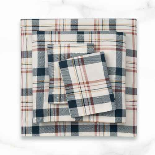 Queen Printed Pattern Fall Flannel Sheet Set Cool Plaid - Threshold™