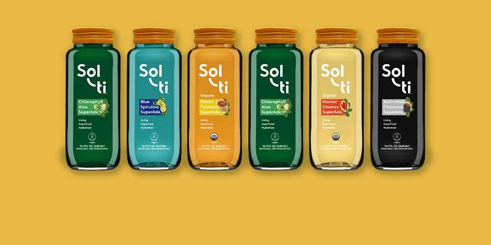 Sol-ti Coconut Charcoal SuperAde - 14.9 fl oz, Sol-ti Chlorophyll Aloe SuperAde - 14.9 fl oz, Sol-ti Ginger SuperShot - 2 fl oz