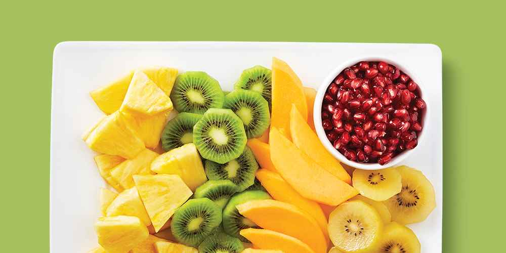 Pineapple - each, Mighties Kiwi Fruit - 1lb Package, Pomegranate Arils - 6oz, Premium Mango - each