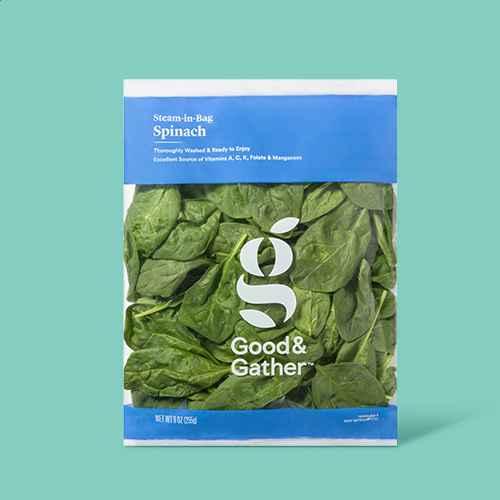 Steam-in-Bag Spinach - 9oz - Good & Gather™, Organic Baby Spinach - 5oz - Good & Gather™, Baby Spinach - 10oz - Good & Gather™