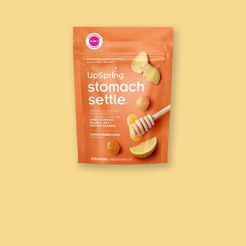 UpSpring Stomach Settle Nausea Relief, Upset Stomach, Motion Sickness Drops - Ginger Lemon - 28ct, UpSpring Stomach Settle Nausea Relief, Upset Stomach, Motion Sickness Drops- Mint - 28ct, The Ginger People Gin - Gins Hard Candy - 3oz
