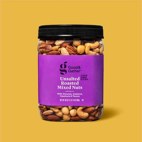 Unsalted Roasted Mixed Nuts - 30oz - Good & Gather™, Unsalted Raw Mixed Nuts - 30oz - Good & Gather™, Sea Salt Roasted Mixed Nuts - 30oz - Good & Gather™
