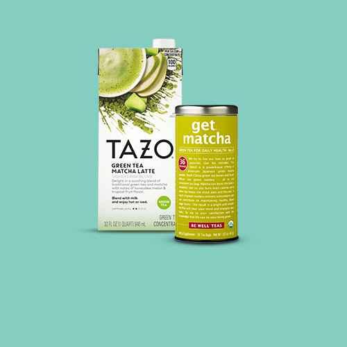 Tazo Green Tea Latte - 32 fl oz, The Republic of Tea Get Matcha Tea Bags - 36ct, Jade Leaf Classic Culinary Matcha Green Tea Powder Mix 1oz