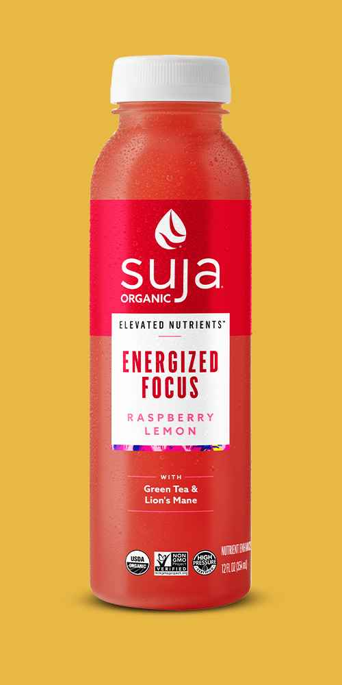 Suja Organic Elevated Nutrients Energized Focus Raspberry Lemon - 12 fl oz, Suja Vibrant Organic Probiotic Fruit Juice 12oz, Suja Uber Greens Organic Vegan Fruit & Vegetable Juice Drink 12oz