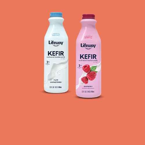 Lifeway Kefir Plain Low Fat Milk Smoothie - 32 fl oz, Lifeway Kefir Raspberry Low Fat Milk Smoothie - 32 fl oz, Chobani Strawberry Banana Greek Style Yogurt Drink - 7 fl oz