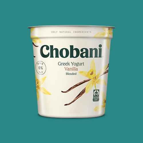 Chobani Vanilla Blended Nonfat Greek Yogurt - 32oz, Chobani Plain Nonfat Greek Yogurt - 32oz, Chobani Strawberry Blended Nonfat Greek Yogurt - 32oz, Greek Vanilla Nonfat Yogurt - 32oz - Good & Gather™