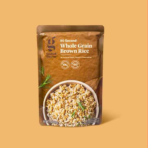 90 Second Whole Grain Brown Rice Microwavable Pouch - 8.8oz - Good & Gather™, Instant Brown Rice - 14oz - Good & Gather™, Organic Whole Grain Medley - 30oz - Good & Gather™, 90 Second Whole Grain Blend with Brown Rice, Lentils & Quinoa - 8.8oz - Good & Gather™