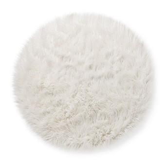 Faux Fur Rug (3' Round) White - Pillowfort™
