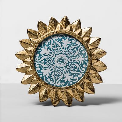 "4"" x 4"" Cast Sunburst Frame Gold - Opalhouse™"