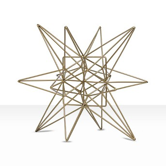 Star Figurine Metal Tabletop Décor In Steel Finish - Gold (5.91