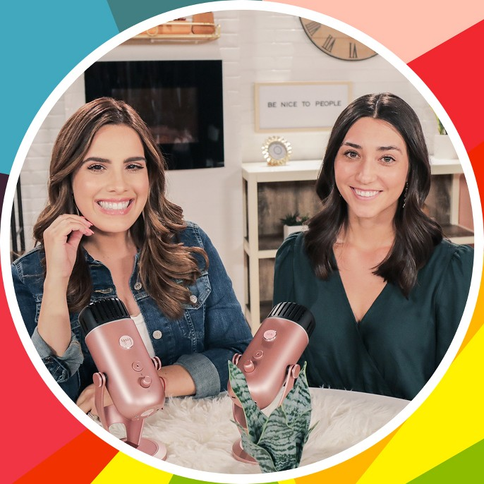 Reporter and Juntos We Shine podcast host Andrea Chediak with podcast guest.