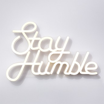 Stay Humble LED Neon Wall Sign White - Room Essentials™
