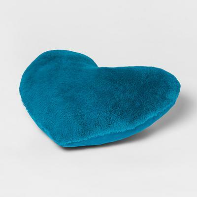 Heart Faux Fur & Velvet Throw Pillow - Pillowfort™