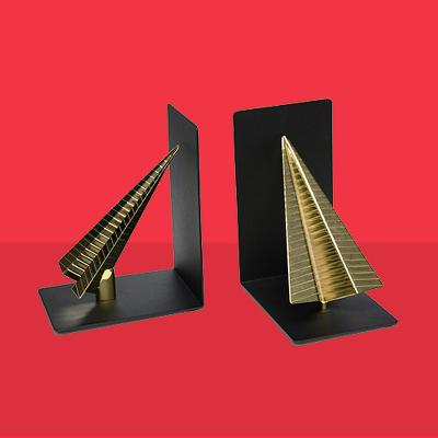 Paper Airplane Bookends Black/Gold - Project 62™