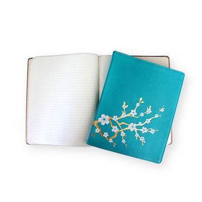 "Blank Journal Eccolo Ltd 10"" x 8"" Bayou Teal Flat Gray"