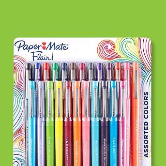 Paper Mate 24pk Felt Tip Marker Pens Multicolor Ink