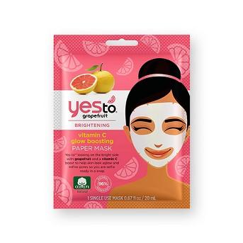 Yes To Grapefruit Single Use Paper Face Mask - .67oz