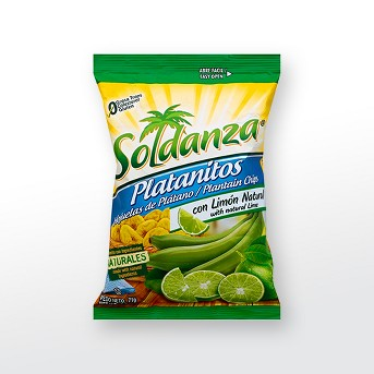 Soldanza Platanitos Chips with Lime - 2.5oz