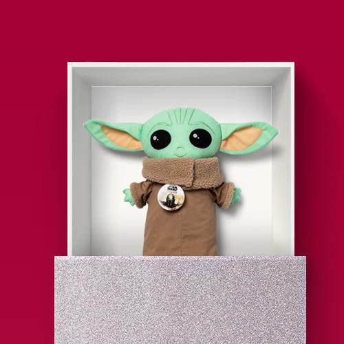 Star Wars: The Mandalorian The Child Pillowbuddy, Solid Silver Glitter Gift Wrap - Wondershop™
