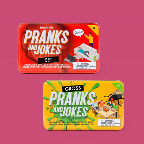 Gross Pranks and Jokes Set Game, Hilarious Pranks and Jokes Game Set