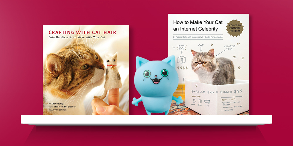 Crafting with Cat Hair : Cute Handicrafts to Make With Your Cat (Paperback) (Kaori Tsutaya), Cat Squish Animal Figure Blue, How to Make Your Cat an Internet Celebrity - by  Patricia Carlin (Paperback)