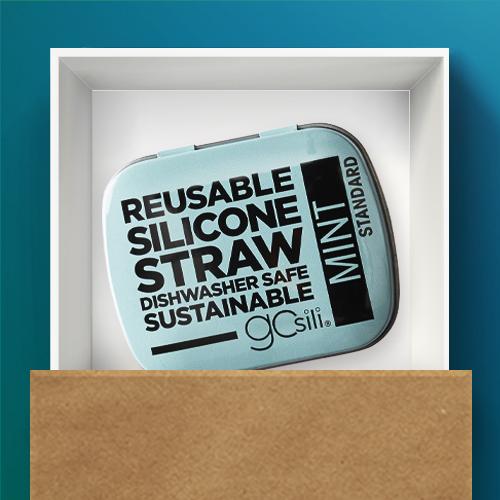 "GoSili 2pk Standard Straw Tins - Violet/Mint, Scotch 75 sq ft 30""x360"" Postal Wrapping/Packaging Paper"