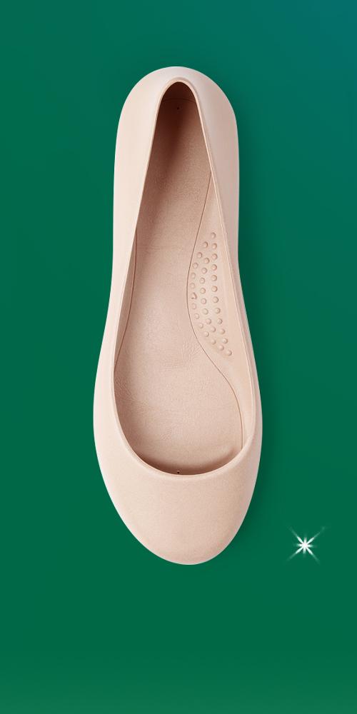 Women's Georgia Sustainable Soft Jelly Ballet Flats - Okabashi Blush 6