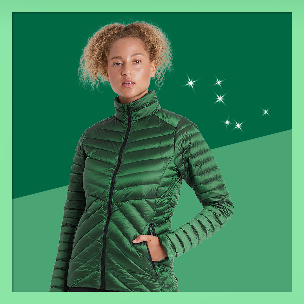 Women's Packable Down Puffer Jacket - All in Motion™ Green S