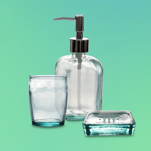 Recycled Glass Bath Collection - Threshold™, Recycled Glass Soap Dispenser Clear - Threshold™, Recycled Glass Tumbler Clear - Threshold™, Recycled Glass Soap Dish Clear - Threshold™