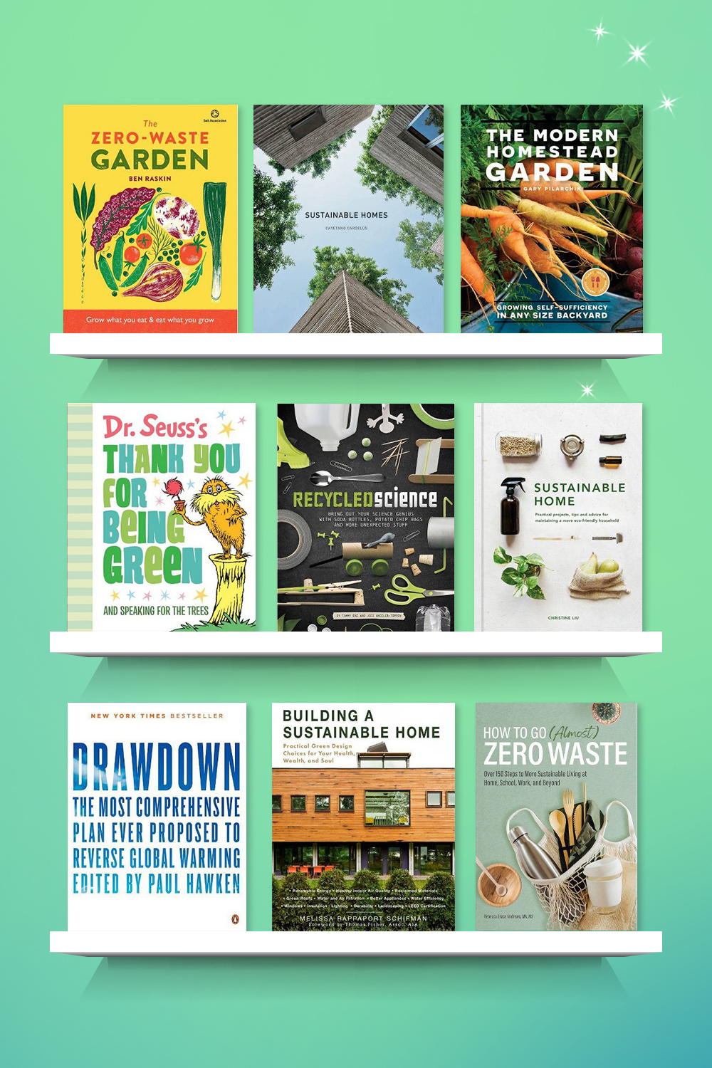 Zero Waste Gardening - by  Ben Raskin (Hardcover), Sustainable Homes - by  Cayetano Cardelus (Hardcover), The Modern Homestead Garden - by  Gary Pilarchik (Paperback), Dr. Seuss's Thank You for Being Green: And Speaking for the Trees (Hardcover) - by DR SEUSS, Recycled Science - by Tammy Enz & Jodi Wheeler-Toppen (Paperback), Sustainable Home - (Sustainable Living) by  Christine Liu (Hardcover), Drawdown - by  Paul Hawken (Paperback), Building a Sustainable Home - by  Melissa Rappaport Schifman (Paperback), How to Go (Almost) Zero Waste - by  Rebecca Grace Andrews (Paperback)