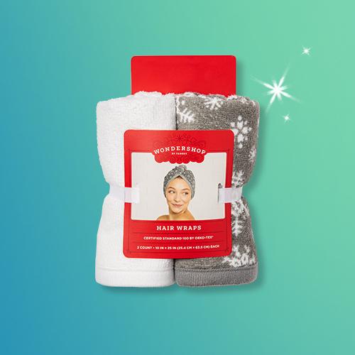 2pk Snowflake Hair Wrap Gray/White - Wondershop™