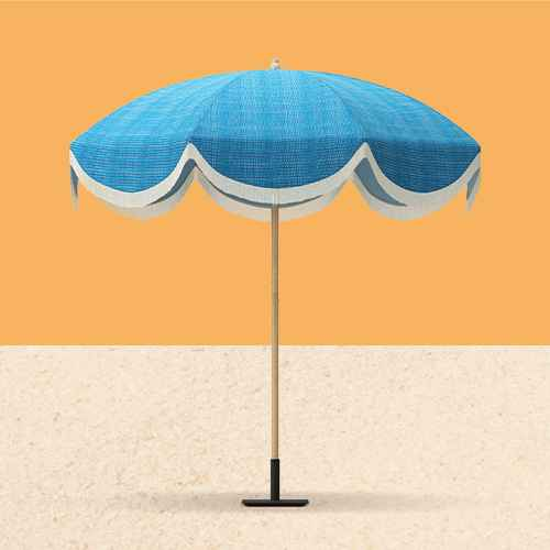7.2' Round Fringed Patio Umbrella Teal - Opalhouse™
