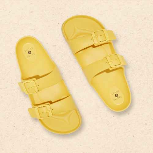 Women's Neida EVA Two Band Slide Sandals - Shade & Shore™ Yellow 6