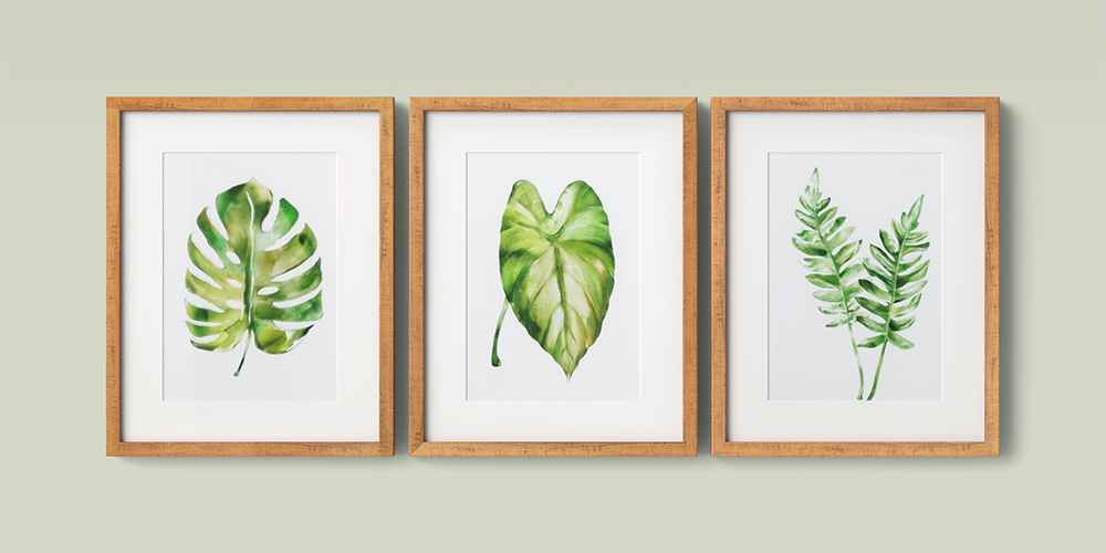 "(Set of 3) 16"" x 20"" Leaf Framed Wall Print - Threshold™"