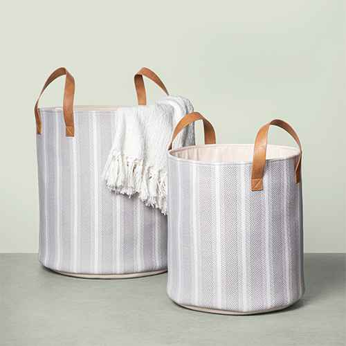 Stripe Storage Bin - Hearth & Hand™ with Magnolia