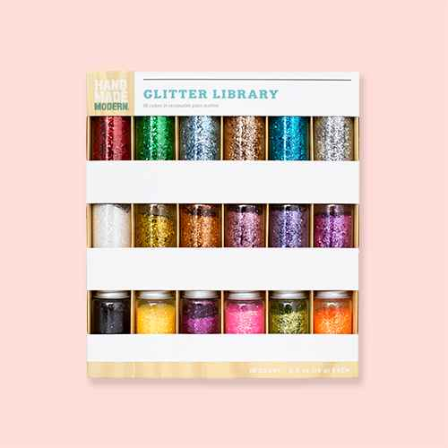 18ct Glitter Library - Hand Made Modern®