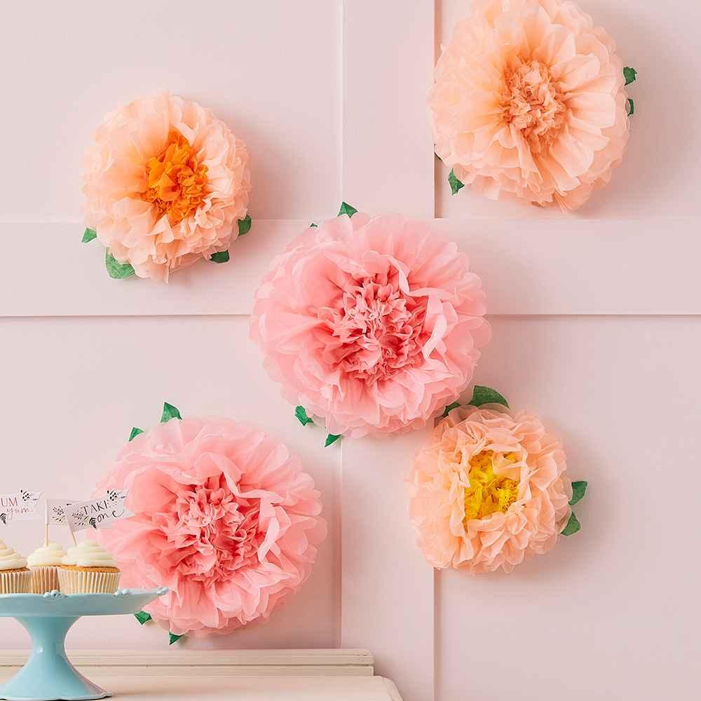 Tissue Paper Flower Pom Poms