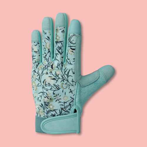 Polyester Performance Floral Gloves Light Blue - Smith & Hawken™