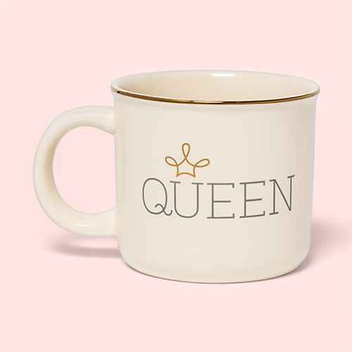 15oz Stoneware Queen Camper Mug White - Threshold™