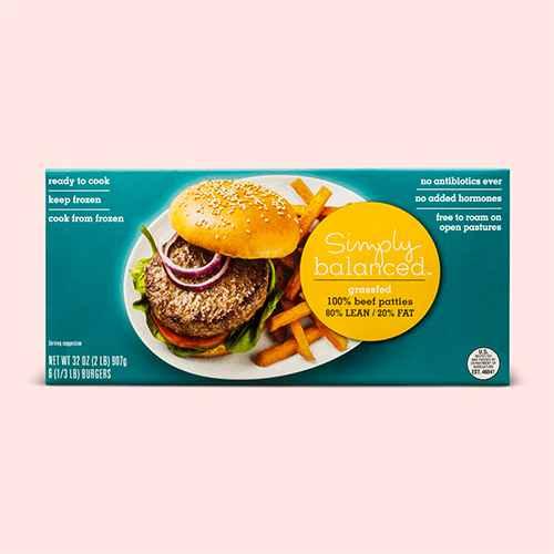 80/20 Grass Fed Frozen Burger Patties - 6pk/2lbs - Good & Gather™