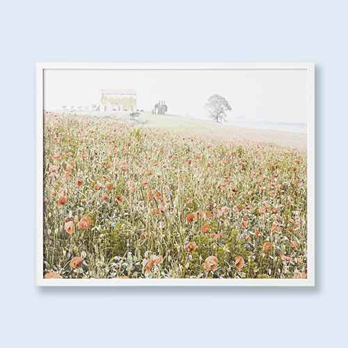"""30"""" x 24"""" Wildflowers on the Hill Framed Under Plexiglass - Threshold™ designed with Studio McGee"""