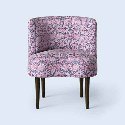 Clary Curved Back Accent Chair Purple Paisley - Opalhouse™